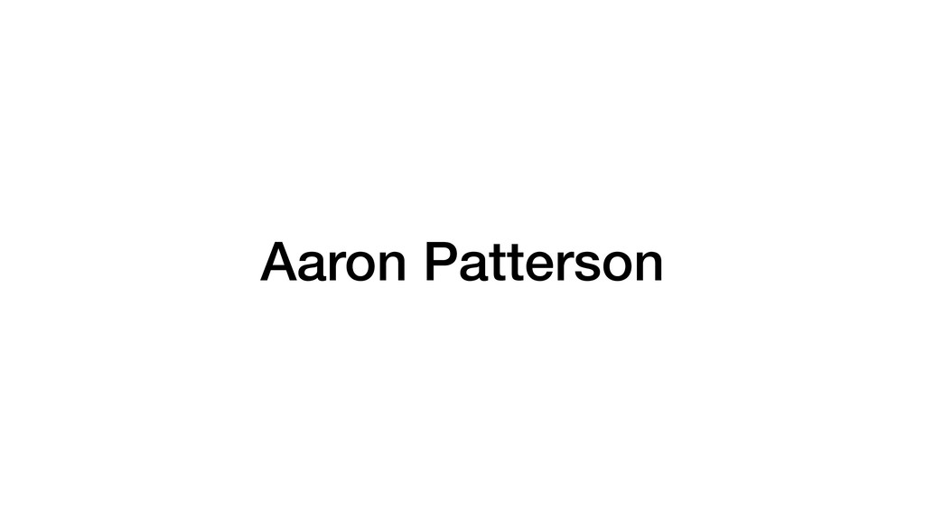 Aaron Patterson