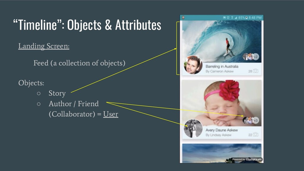 """""""Timeline"""": Objects & Attributes Landing Screen..."""