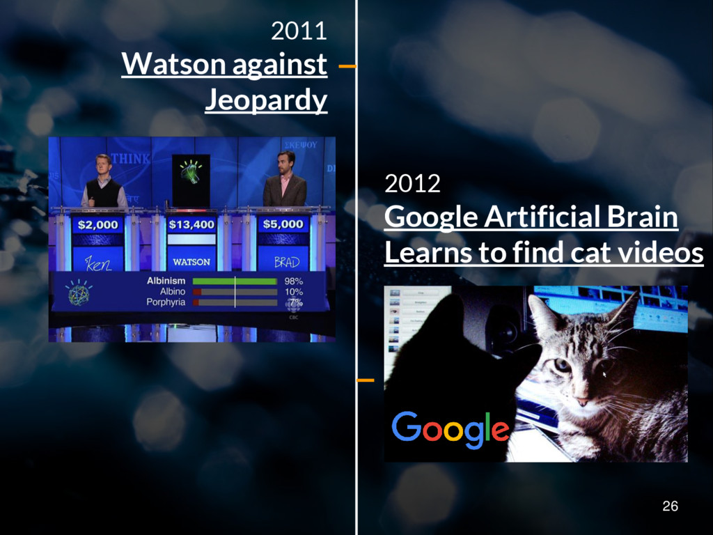 2012 Google Artificial Brain Learns to find cat...