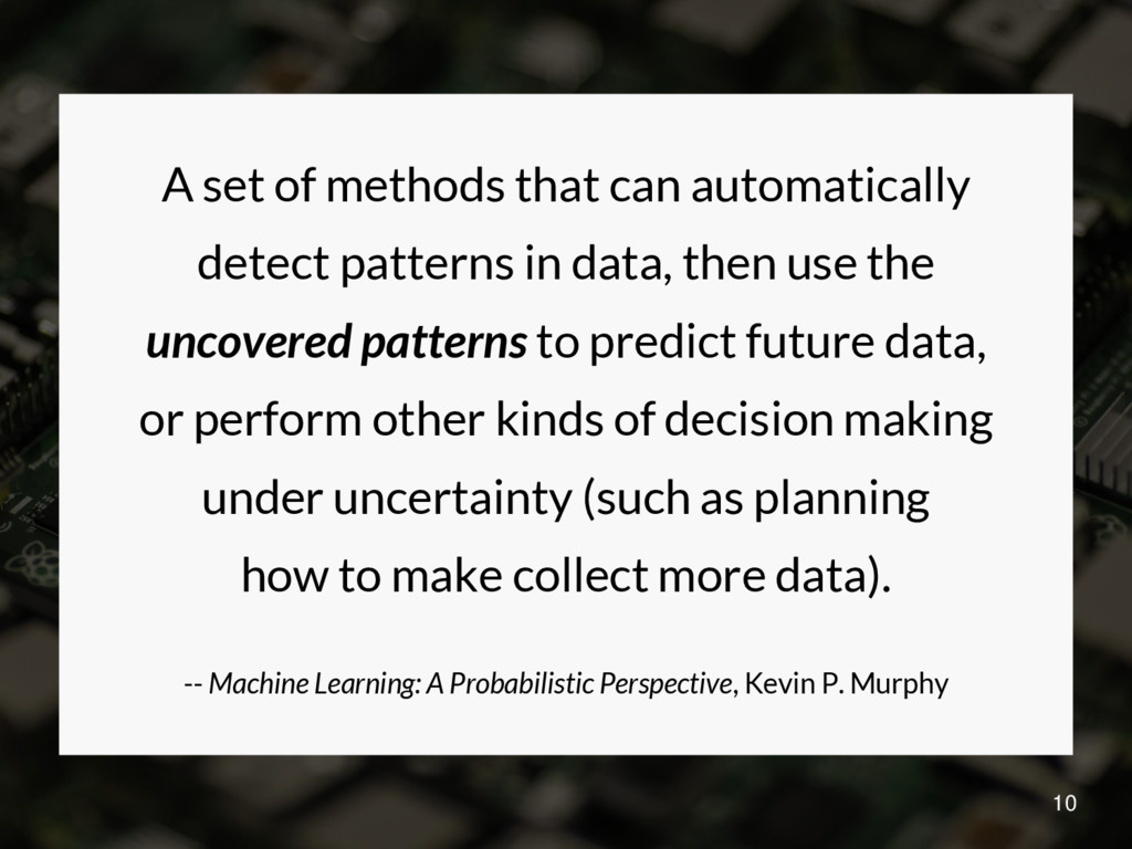 A set of methods that can automatically detect ...