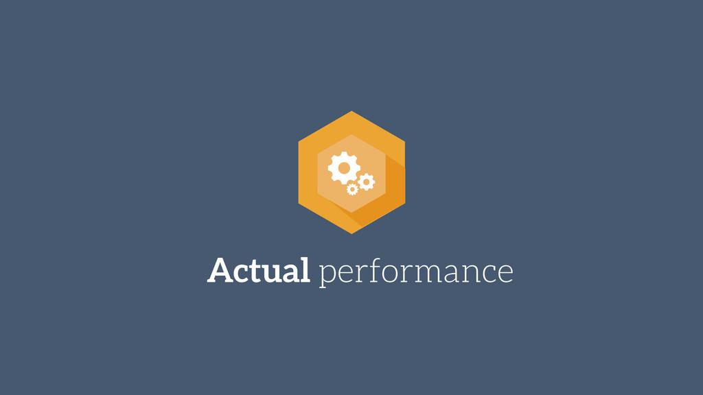 Actual performance