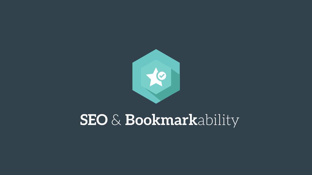 SEO & Bookmarkability