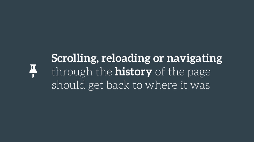 Scrolling, reloading or navigating through the ...