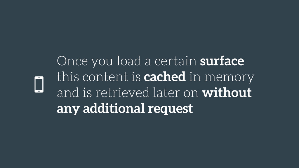Once you load a certain surface this content is...