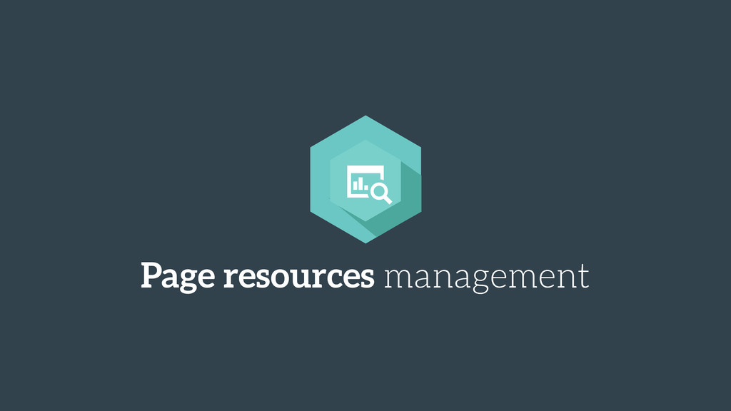 Page resources management