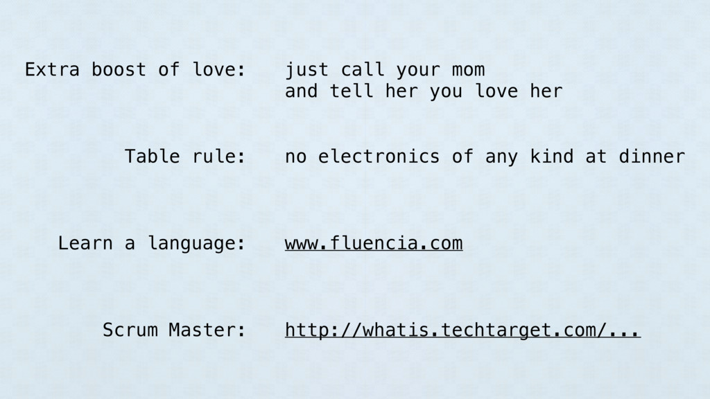 just call your mom and tell her you love her ww...