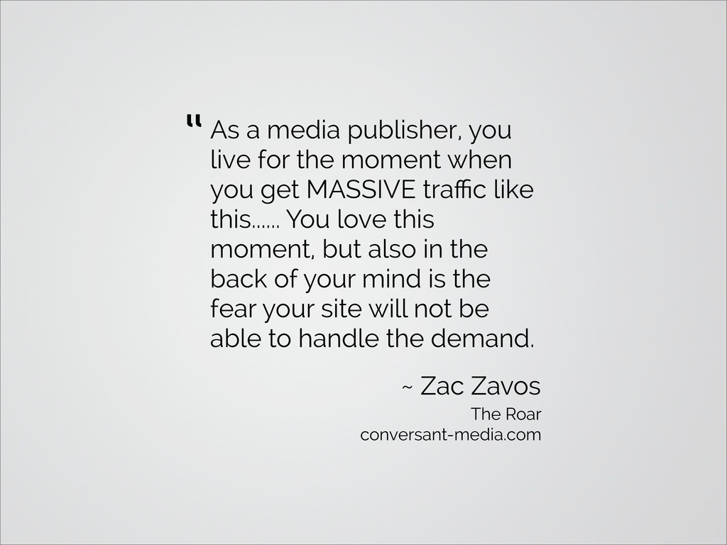 As a media publisher, you live for the moment w...
