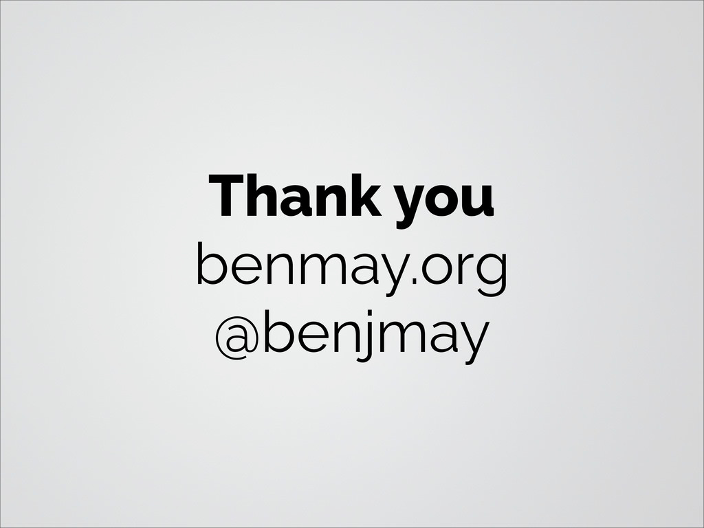 Thank you benmay.org @benjmay