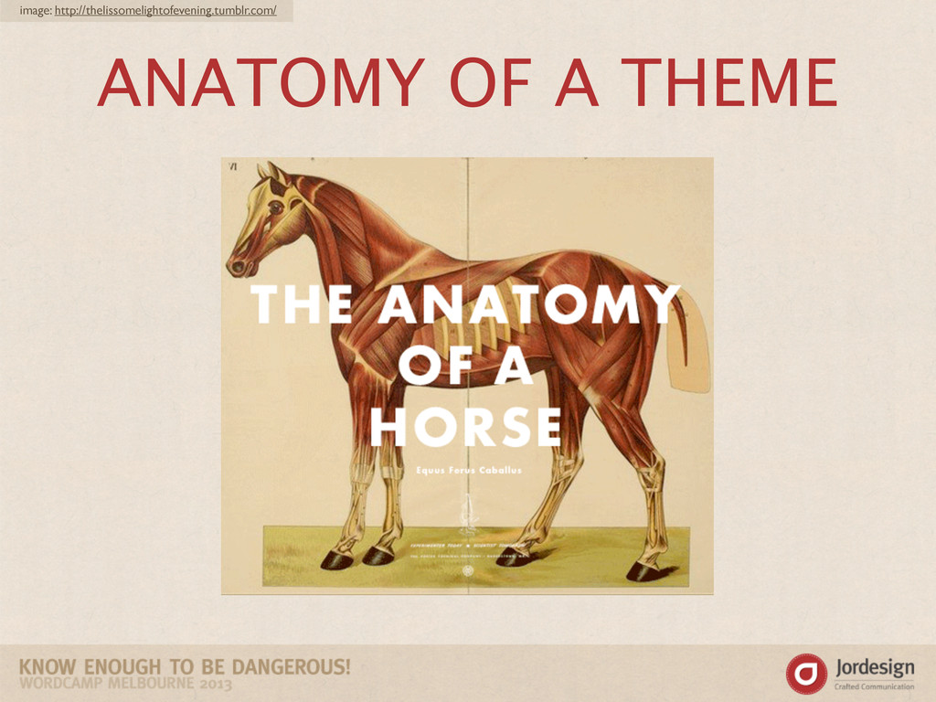 ANATOMY OF A THEME image: http://thelissomeligh...