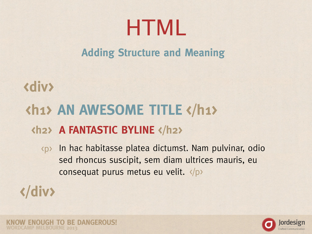 HTML AN AWESOME TITLE A FANTASTIC BYLINE In hac...