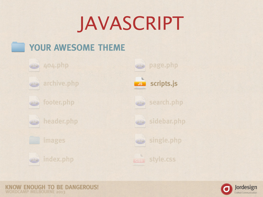 JAVASCRIPT YOUR AWESOME THEME 404.php archive.p...