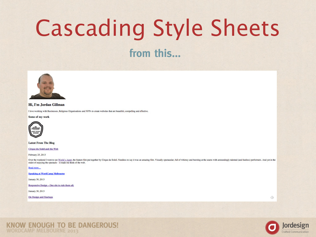 Cascading Style Sheets from this...