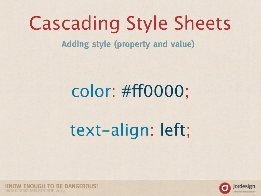 Cascading Style Sheets Adding style (property a...