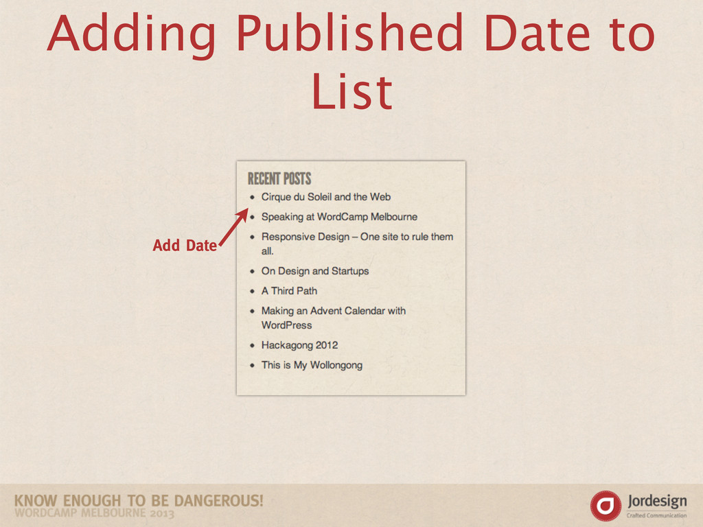 Adding Published Date to List Add Date