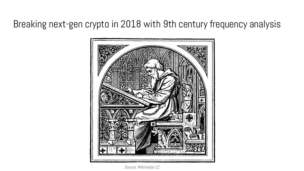 Breaking next-gen crypto in 2018 with 9th centu...