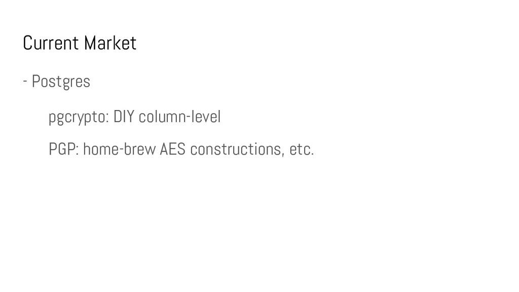 Current Market - Postgres pgcrypto: DIY column-...