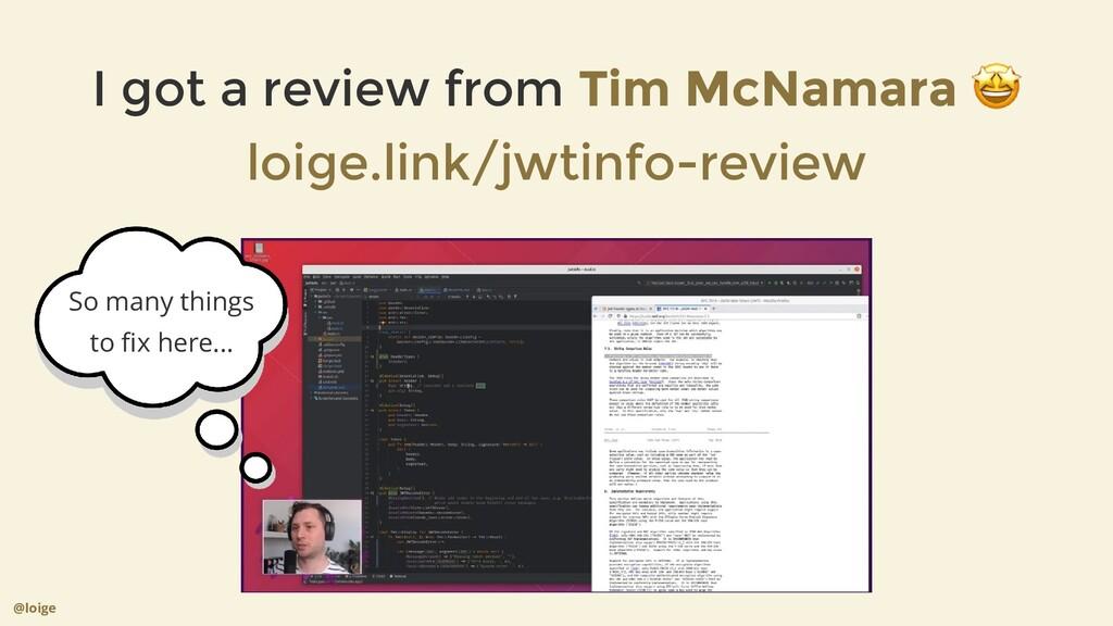 I got a review from 🤩 Tim McNamara loige.link/j...