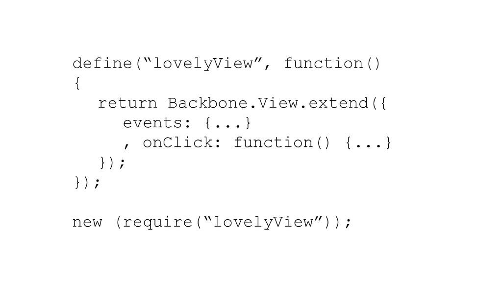 """AMD + Backbone: Code define(""""lovelyView"""", funct..."""