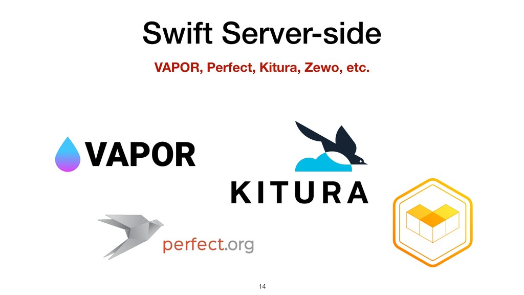 Swift Server-side !14 VAPOR, Perfect, Kitura, Z...