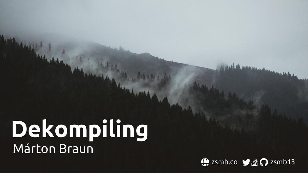 Dekompiling Márton Braun zsmb.co zsmb13