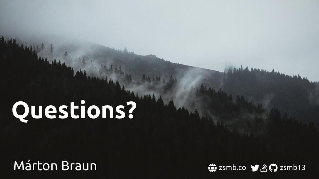Questions? Márton Braun zsmb.co zsmb13