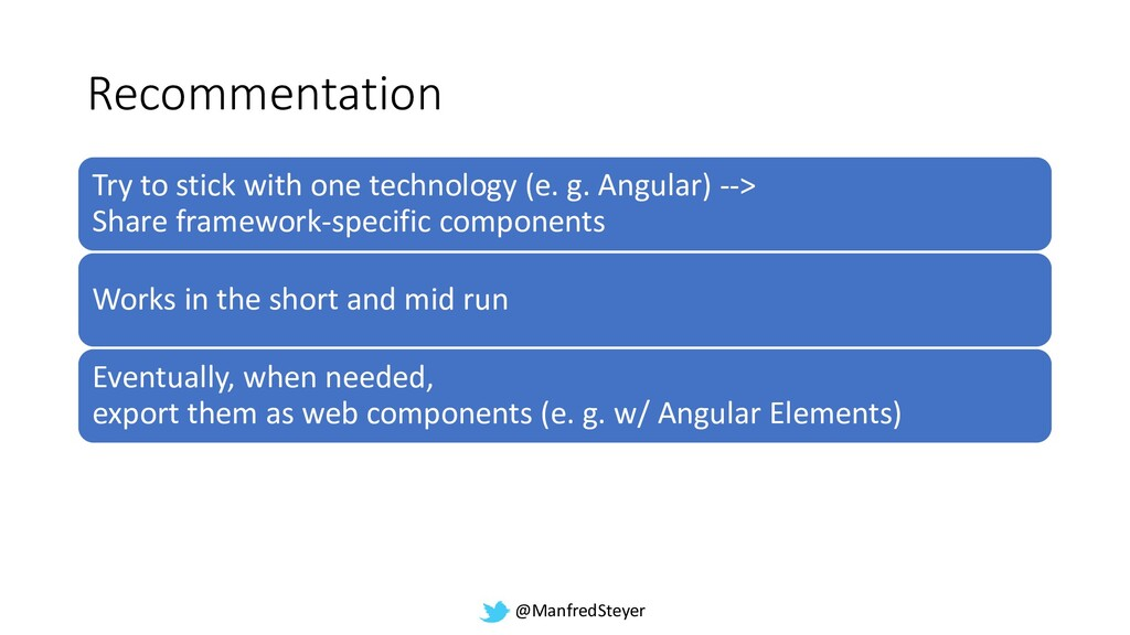 @ManfredSteyer Recommentation Try to stick with...
