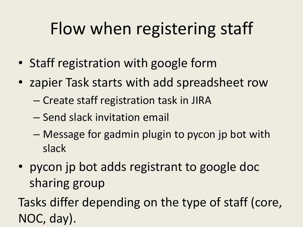 Flow when registering staff • Staff registratio...