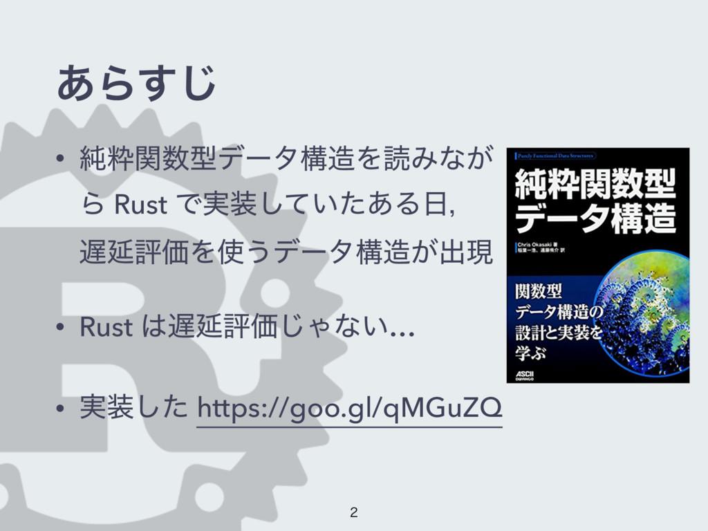 ͋Β͢͡ • ७ਮؔܕσʔλߏΛಡΈͳ͕ Β Rust Ͱ࣮͍ͯͨ͋͠Δɼ ԆධՁΛ...