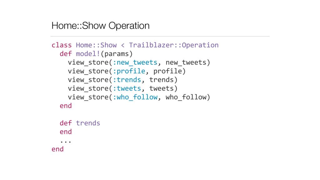 Home::Show Operation class Home::Show <...