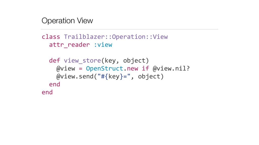 Operation View class Trailblazer::Operation:...