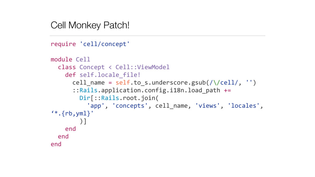 Cell Monkey Patch! require	