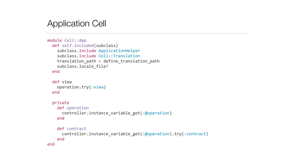 Application Cell module	