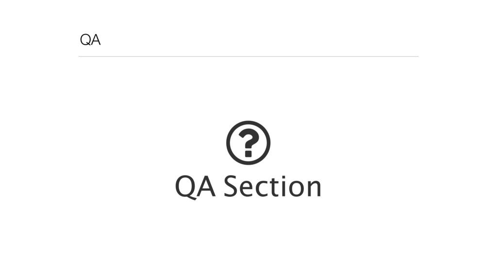 QA ! QA Section