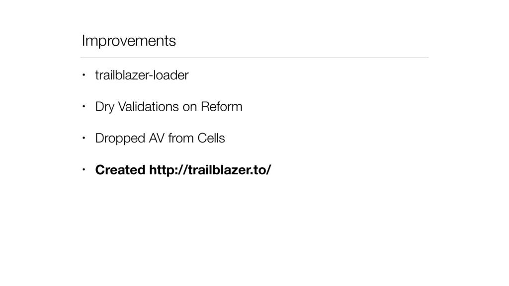 Improvements • trailblazer-loader • Dry Validat...