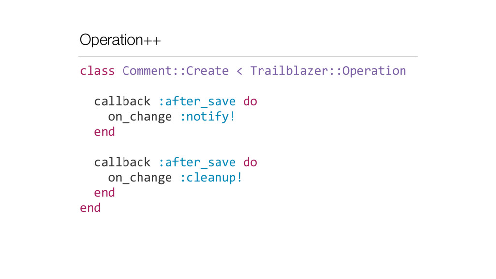 Operation++ class	