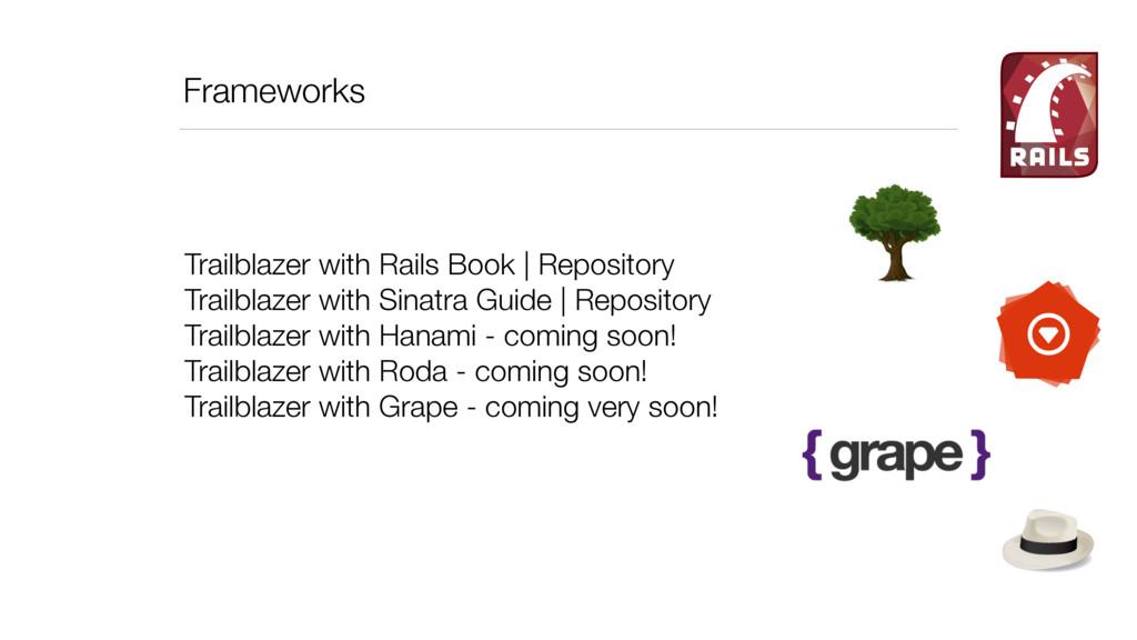 Frameworks Trailblazer with Rails Book   Reposi...