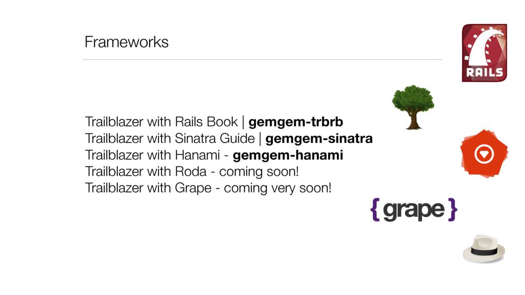 Frameworks Trailblazer with Rails Book   gemgem...