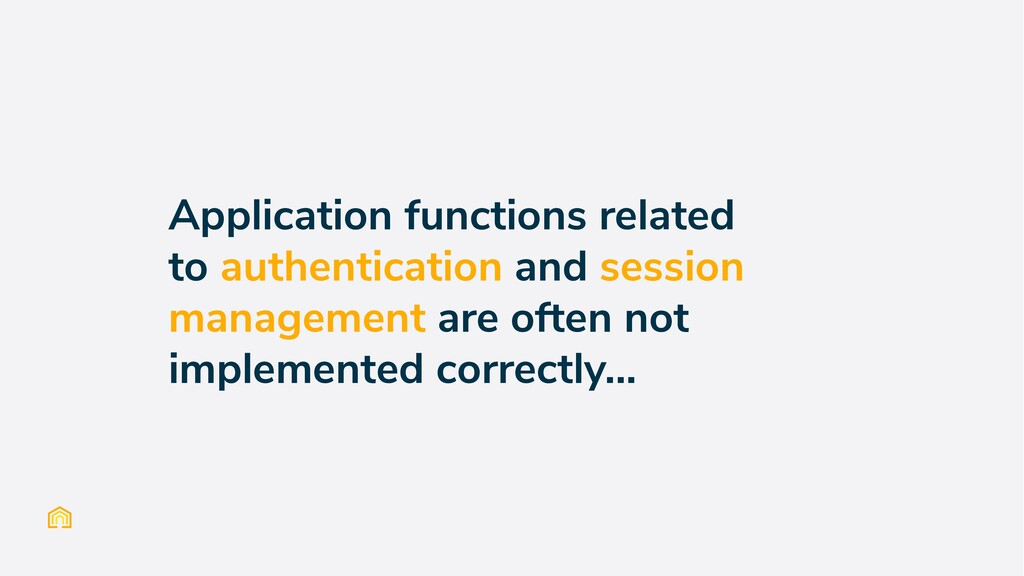 Application functions related to authentication...