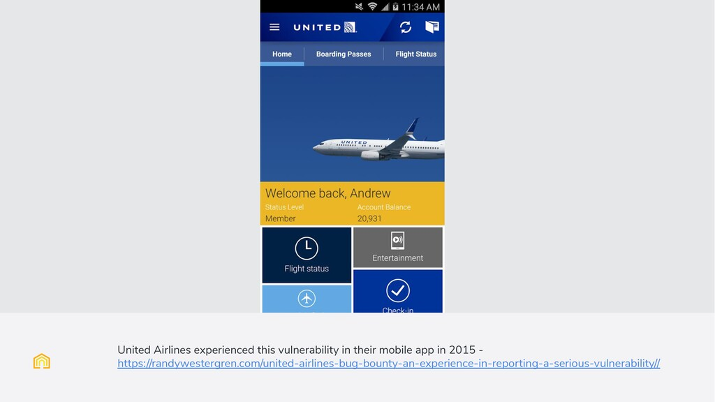 United Airlines experienced this vulnerability ...