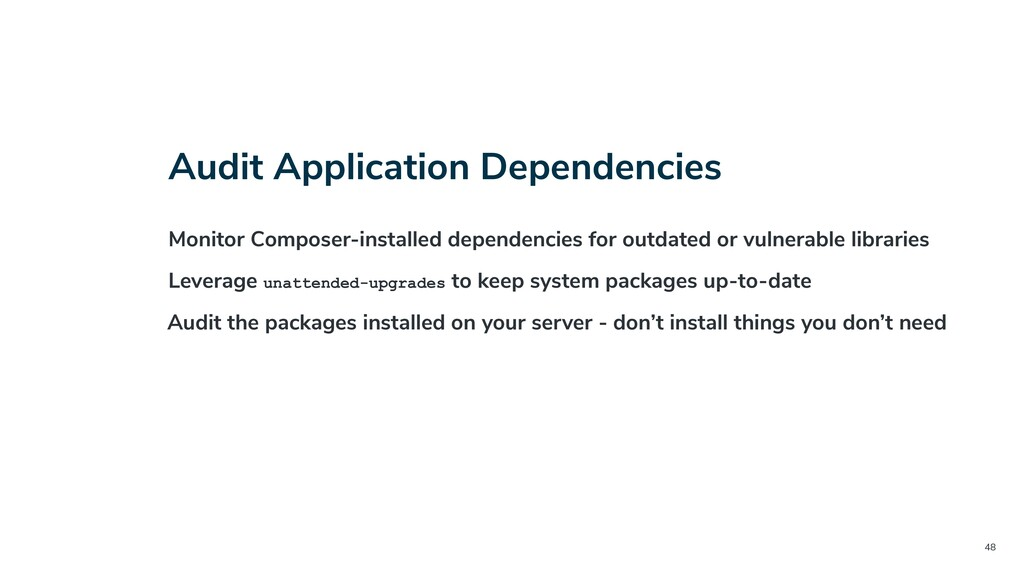 48 Audit Application Dependencies Monitor Compo...