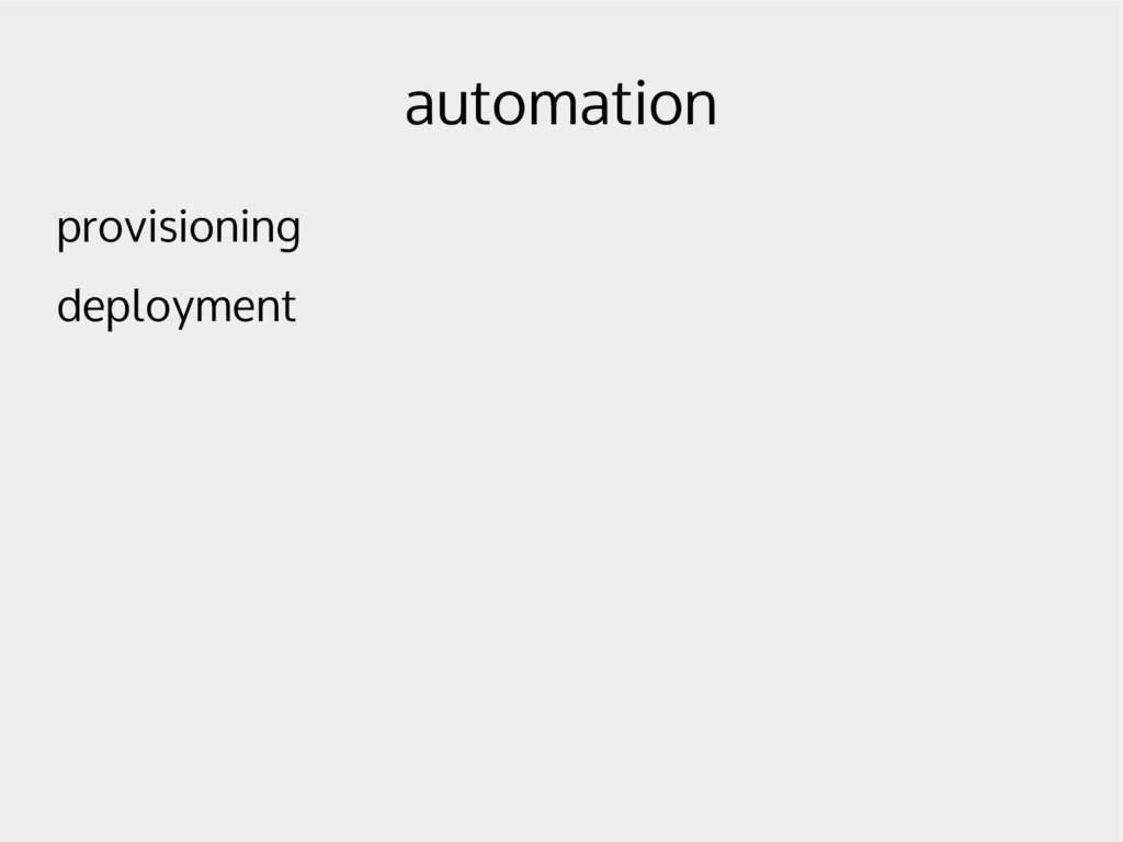 automation provisioning deployment