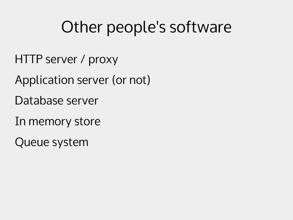 Other people's software HTTP server / proxy App...