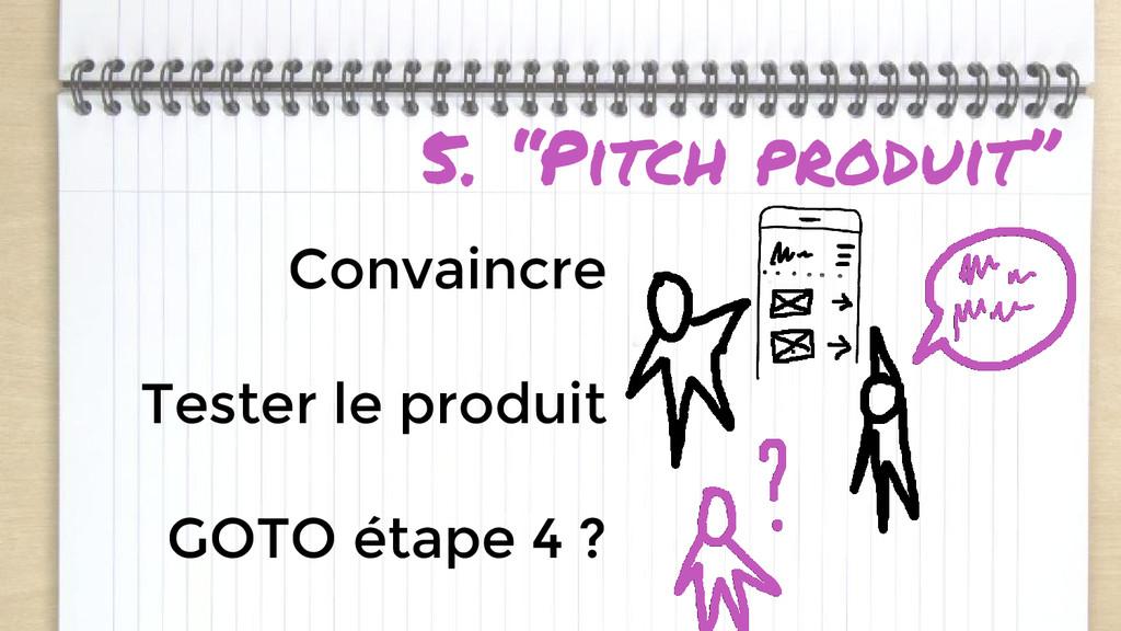"""5. """"Pitch produit"""" Convaincre Tester le produit..."""