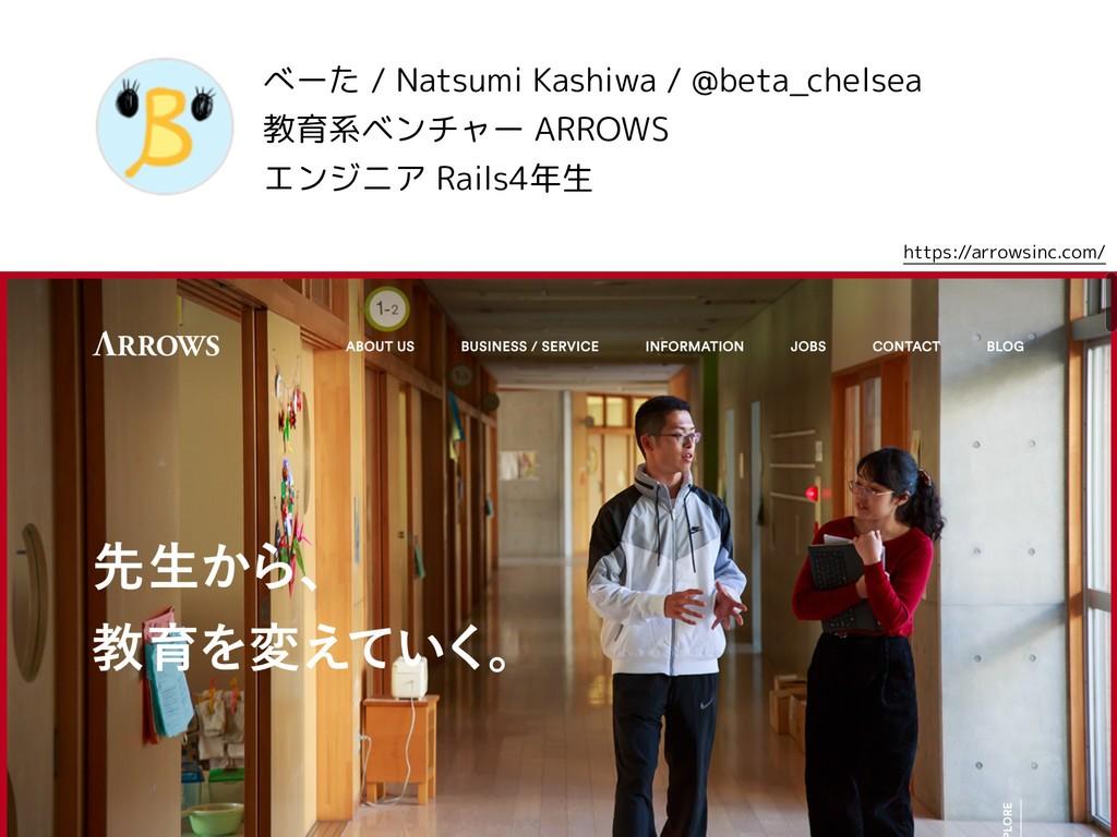 べーた / Natsumi Kashiwa / @beta_chelsea 教育系ベンチャー ...