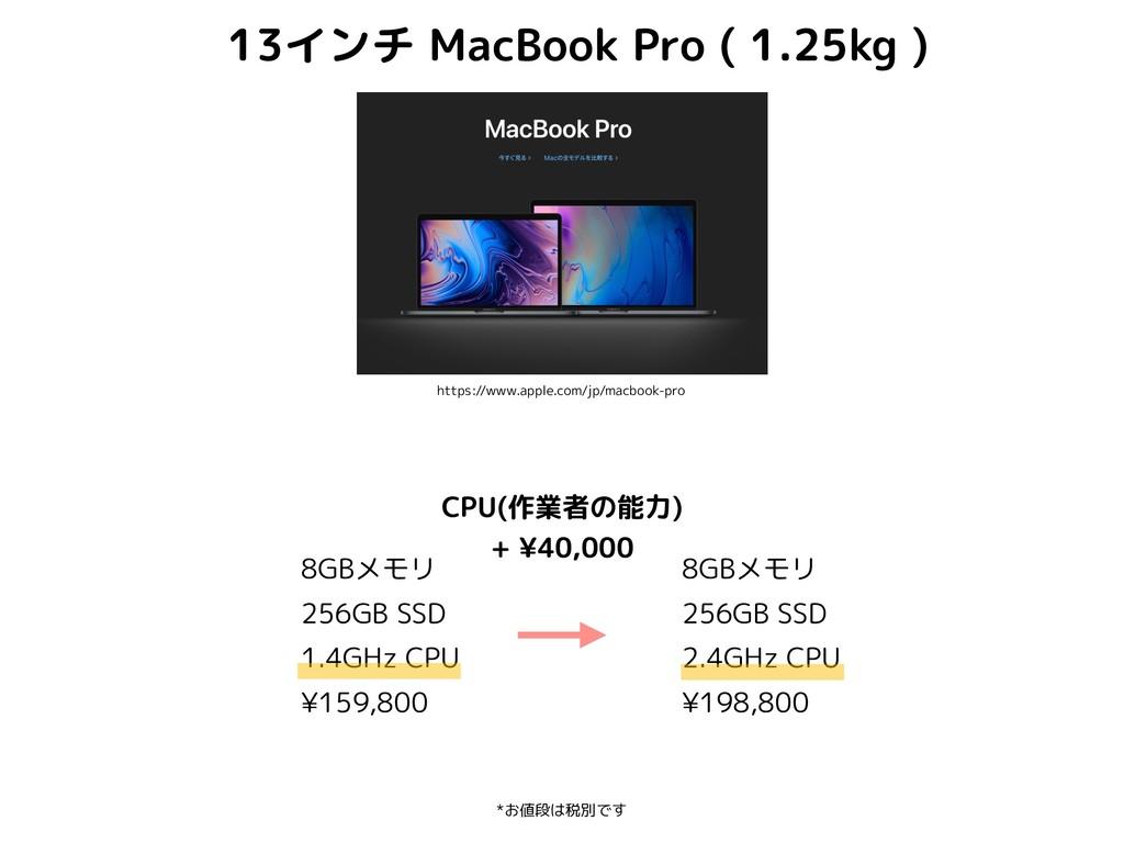 8GBメモリ 256GB SSD 1.4GHz CPU ¥159,800 *お値段は税別です ...