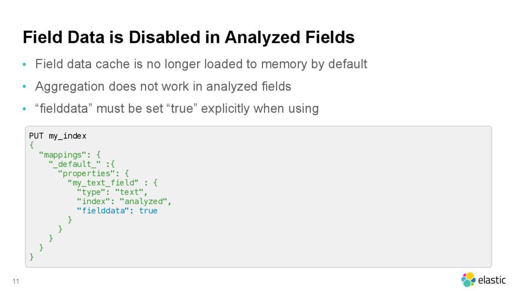 Field Data is Disabled in Analyzed Fields • Fie...