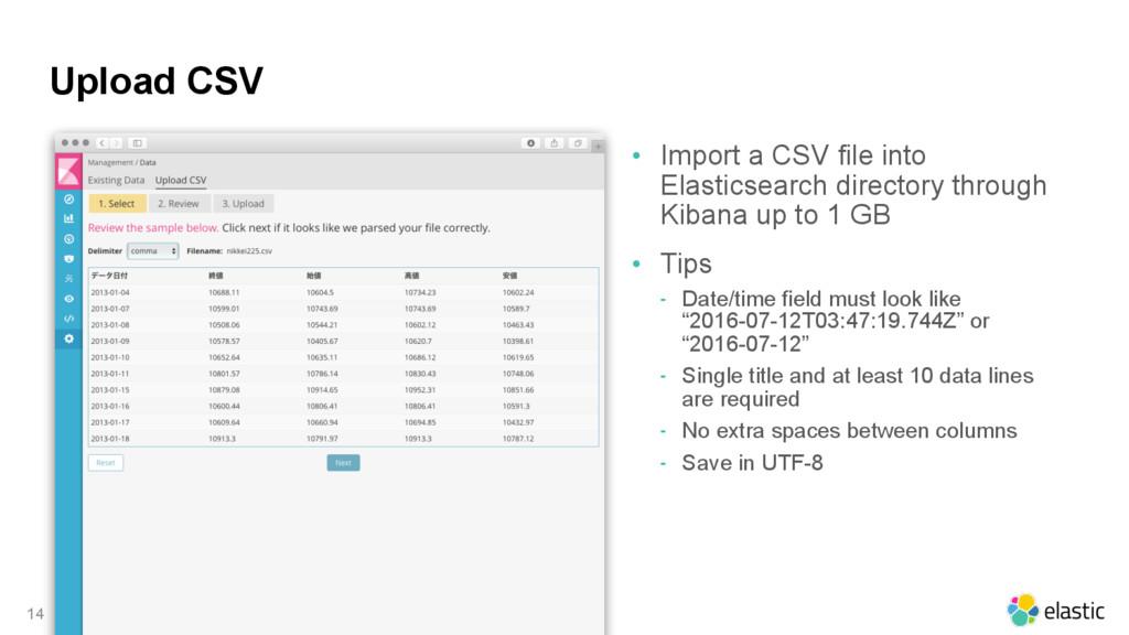 Upload CSV • Import a CSV file into Elasticsear...