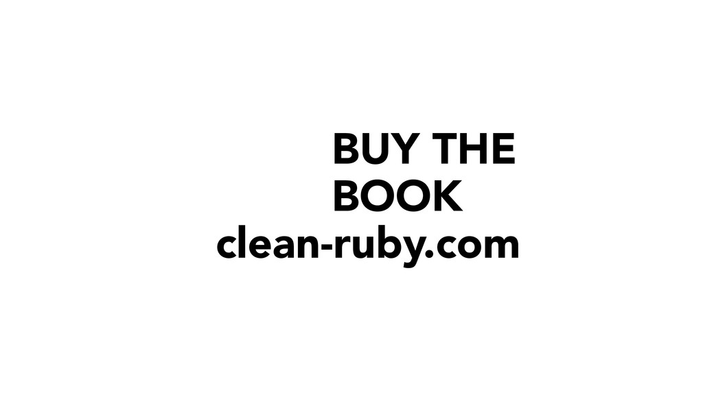 BUY THE BOOK clean-ruby.com