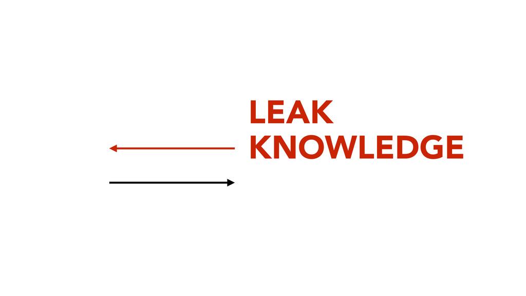 LEAK KNOWLEDGE